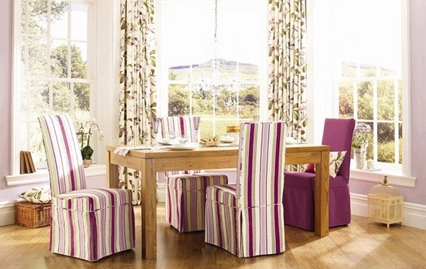 striped chair covers dining rooms movie chairs for sale add style and elegance to the room