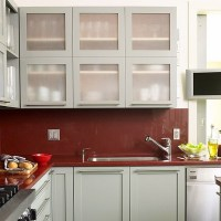 Glass front kitchen cabinets for a fashionable look in the ...