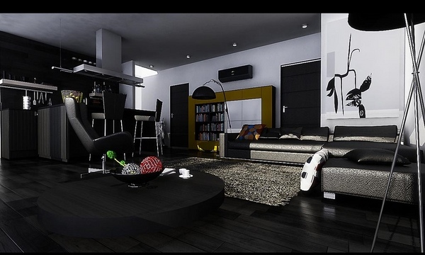 modern black living room theaters 25 ideas are you bold enough for a interior