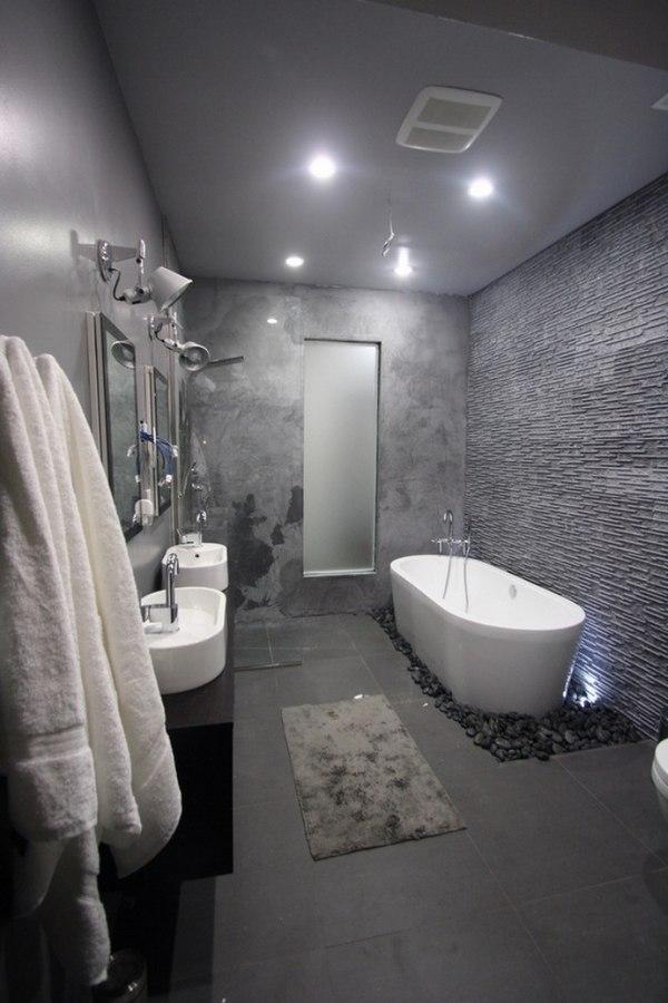 20 trendy gray bathroom interiors in