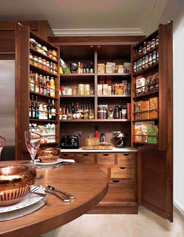 freestanding pantry cabinets – kitchen storage and organizing ideas
