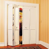 Accordion closet doors  space saving ideas for your home