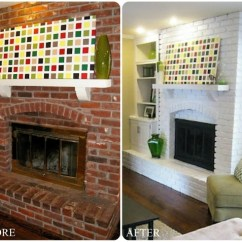 Small Living Room Ideas With Brick Fireplace Memory Foam Rugs For Makeover Before And After Cool Makeovers Design