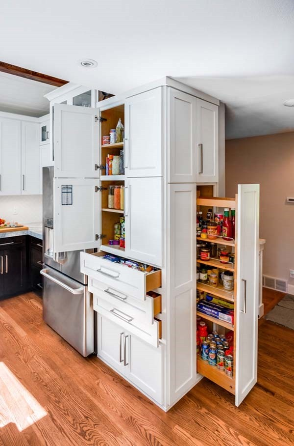 Kitchen saving storage solutions  useful ideas for pantry organizing