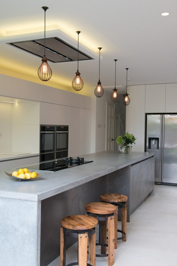 Poured concrete countertops  amazing durability and