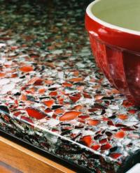 Recycled countertops - eco friendly kitchen countertops ideas