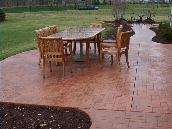 beautiful stamped concrete patios ideas