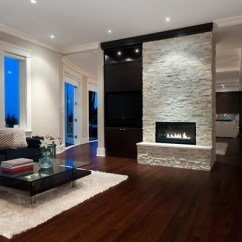 Contemporary Living Rooms With Fireplaces Room Sectional Layout Stone Ideas For