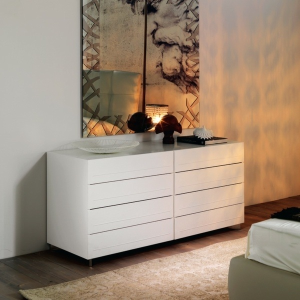 Modern white dressers - stylish bedroom furniture ideas