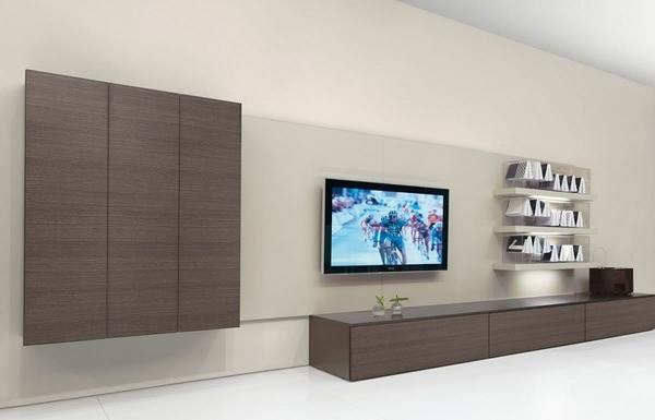 Minimalist TV Stands In Trendy Living Room Interiors