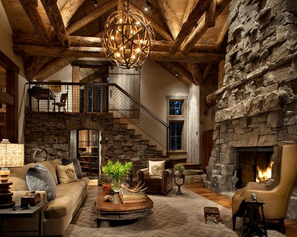 living room decorating ideas with stone fireplace desighn rustic decor tips for choosing the right furniture sofa coffee table