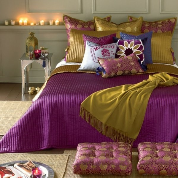 moroccan bedroom gold purple Moroccan bedding sets – spice up your bedroom with rich colors
