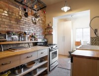 Brick backsplash ideas  a charming rustic touch in the ...