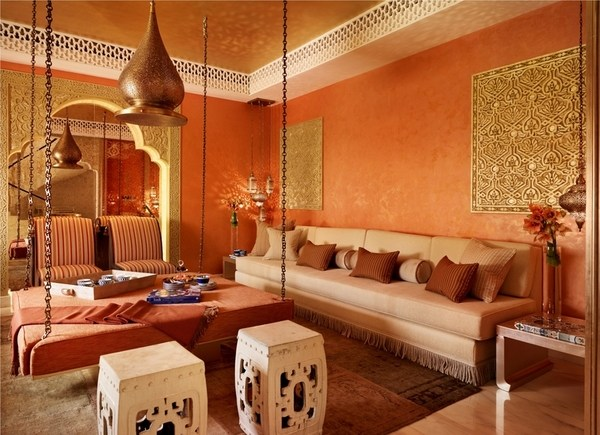 moroccan living room design indian small decorating ideas designs exotic interiors with an oriental touch bold colors unique table on chains