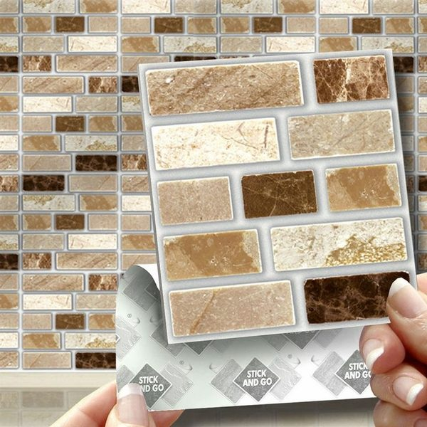 stick on backsplash tiles for kitchen decorative wall art peel and tile review of pros cons