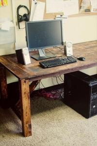 How to build a desk from wooden pallets  DIY pallet ...