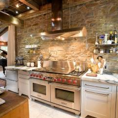 Stone Kitchen Backsplash Remodeling Contractors Ideas Make A Statement In Your Interior Remodel White Cabinets Ceiling Beams