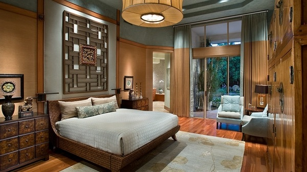 How to design an Asian themed bedroom  furniture and