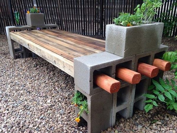 Concrete Block Furniture Ideas