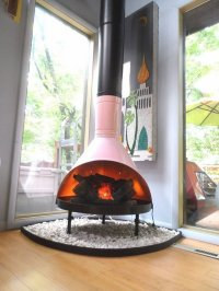 Malm fireplace  a touch of fabulous retro chic indoors ...