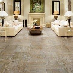 Living Room Tiles Floor Large Pictures Porcelain Tile Flooring Modern And Durable Home Ideas Design White Sofa Set Table Lamps