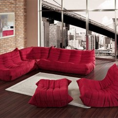 Living Room Furniture Ideas Placement In Narrow With Fireplace Floor Couch The Unconventional Red Modular Sofa