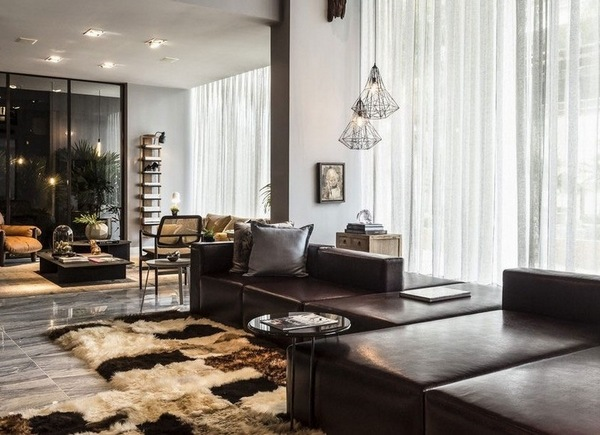 living room design chocolate brown couch floating shelves ideas in and beige 50 fabulous interiors sofa carpet