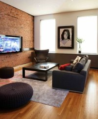 Exposed brick wall in living rooms - homes with fantastic ...