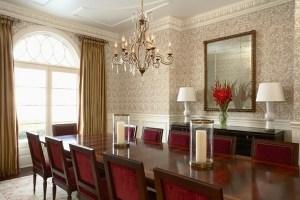 dining parede papel sala makan ruang jantar rumah interior dinding untuk desain esszimmer mewah damask rooms casa romantic tapete dinning