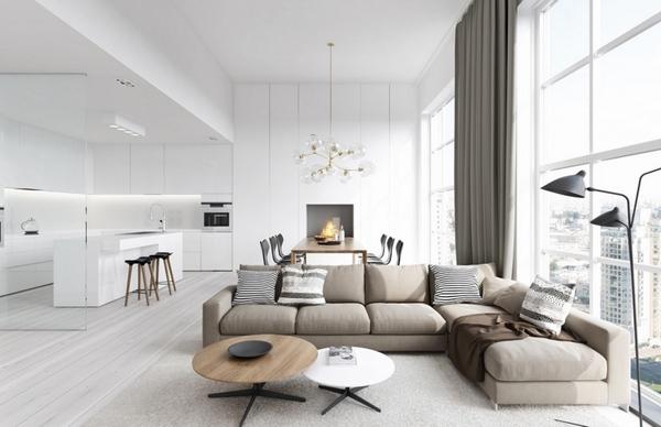 white contemporary living room black 2 modern design ideas for a beautiful and cozy interior