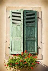 Rustic shutters  historical elegance and house exterior ideas