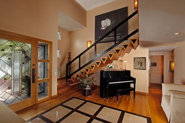 Stair Railing Ideas – Beautiful Designs From Wood And Metal | Modern Home Stair Railings | Single Moulding | Stainless | House | Wall Mounted | Mountain