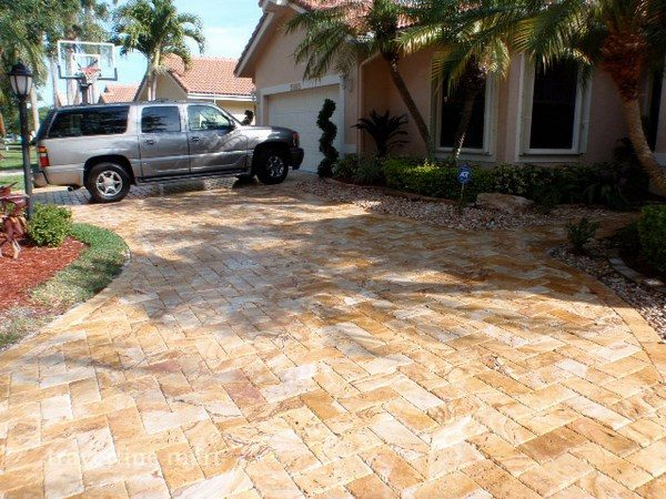travertine pavers patio