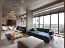 Modern penthouse design – a masculine interior in ...