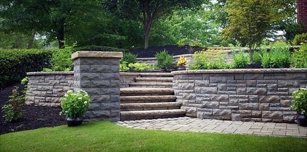 retaining wall blocks design