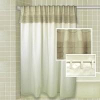 Hookless shower curtain  creative ways to hang a bathroom ...