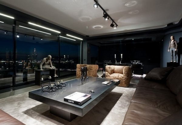 Black and grey living room ideas - modern home interiors ...