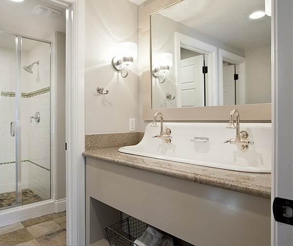 double trough sink for bathroom how