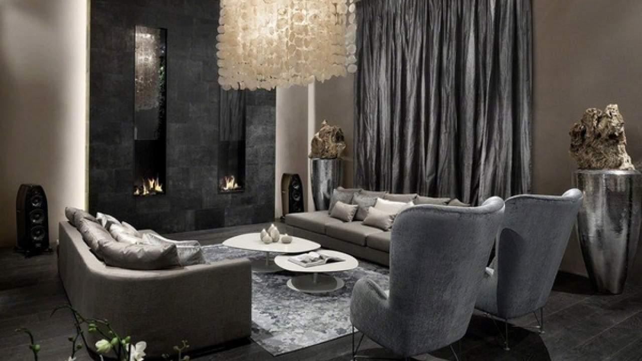 Black And Grey Living Room Ideas Modern Home Interiors In Dark Tones Deavita