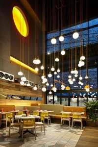 Commercial lighting fixtures  spectacular public area ...