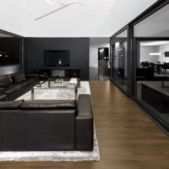 Modern Black Living Room Red Couches And Grey Ideas Home Interiors In Dark Tones