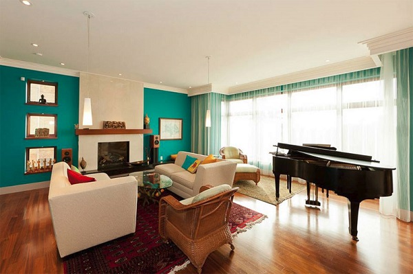 teal accents living room children furniture design ideas trendy interiors in a bold color