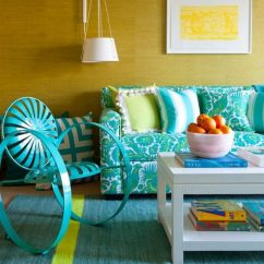 Beige Sofa Decorating Ideas Palliser Miami Review Teal Living Room Design – Trendy Interiors In A Bold ...
