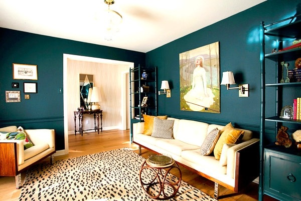 living room wall colour pictures french country home decor teal design ideas trendy interiors in a bold color