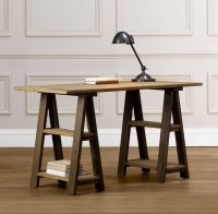 Sawhorse desk design ideas  a chic and simple desk solution