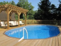 Cool above ground pools with decks  modern backyard ...