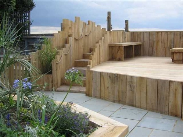 Wooden garden sleepers  Yes or no to railway sleepers in the garden  Deavitanet