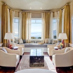 Bay Window Curtain Ideas For Living Room Rooms With Grey Sectionals The Beautiful And Fascinating World Of Decorating Modern Interior Seat Curtains