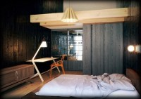 Japanese style bed design ideas in contemporary bedroom