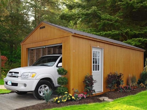 advantages of wooden garages